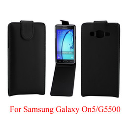 Vertical Leather Bag Canada - Phone Bags Flip Cover For Samsung Galaxy On5 G5500 phone case Back coque leather Flip Vertical Up-Down Open skin pouch Phone Cover
