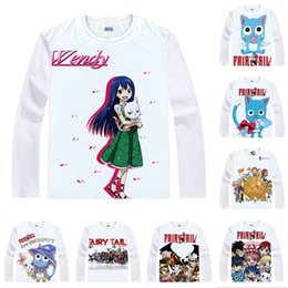 Anime Shirt Fairy Tail T-Shirts Multi-Stil Langarm Happy Winged Katze Carla Sharuru Cosplay Motive Kawaii Shirts