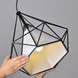 Vintage Retro Industrial Ceiling Light Loft Bird Cage Pendant Lighting Art Diamond Pyramid Lamps For Kitchen Dining Room Bar Hallway