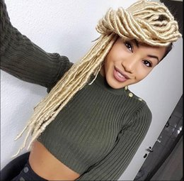 blonde kanekalon braiding hair Australia - 18inch Faux Locs 20Roots Ombre Kanekalon Fiber Braiding Hair Dread Locs Crochet Braids hair Extensions senegalese twist box 613 blonde