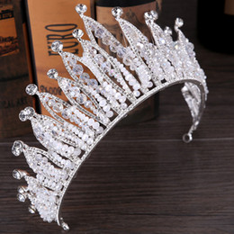 high fashion hair tiara NZ - New Fashion High Quality Exquisite Crystal Bridal Crown 2017 For Women Pageant Prom Tiaras Hair Jewelry Accessories Headdress Festival Decor