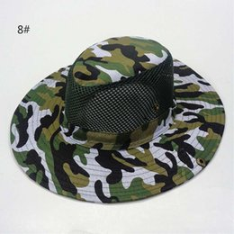 $enCountryForm.capitalKeyWord NZ - Camouflage Sun Net Shade Military Hat Breathable Fishing Hat Man Outdoor Wide Edge Fisherman Hat For Man