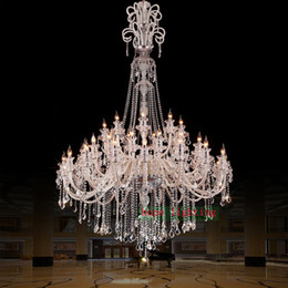 elegant crystal ceiling lights NZ - large crystal chandeliers for hotels modern chandelier high ceiling Villa club level chandelier led Elegant Lighting staircase Chandelier