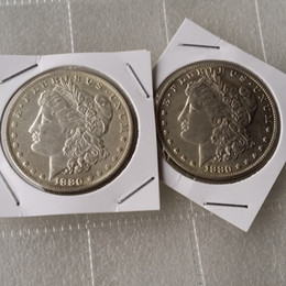 open magic box NZ - Morgan 1880 Two Face Coin interesting magic Coins Gifts home Accessories Silver Coins