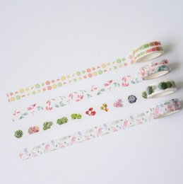 Wholesale CM Wide Light Green Plant Washi Tape Adhesive Tape DIY Scrapbooking Sticker Label Masking Tape