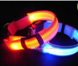 DHL pet collar LED collar glow in the dark flashing dog cat collar for pets safety in stock on Sale