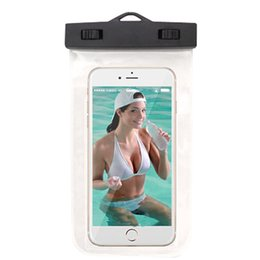 plain white screen UK - 6inch Shui Camera Phone Dry Storage Hot Spring Swimming Under General Touch Screen Pack Diving Set of Phone Waterproof Bag