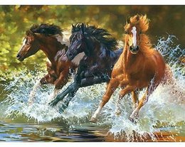 $enCountryForm.capitalKeyWord Canada - Frameless Horse DIY Digital Oil Painting By Numbers Kits Coloring Painting By Numbers Unique Gift For Home Decoration