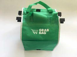 Nueva Saco reutilizable respetuoso del medio ambiente bolsas de la compra que se sujeta a su carrito de compras plegable reutilizable de Eco Bolsas Tote de las compras en venta