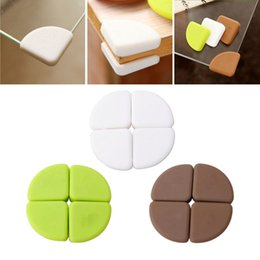 angle cover Canada - Wholesale- New 4Pcs Baby Silicon Arc Corner Protector Kids Table Corner Cover Safety Guards