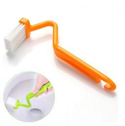 Оригинальность туалет щетки душевая керамическая плитка изогнутая ручка щетка инструменты для очистки многоцветный простой практичный горячая продажа 0 75ld C R на Распродаже