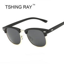 67dc50073e6 TSHING RAY Half Frame Polarized Sunglasses Men Women Brand Designer G15  Coating Mirror Sun Glasses Female Gafas Oculos UV400