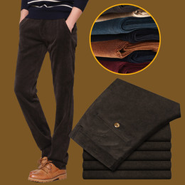 Pantalon En Velours Côtelé En Gros Pas Cher-Wholesale-Men Pantalon en velours côtelé Straight Design Software Slim Hommes Joggers Casual Marque Full Length Hommes Leisure Pantalon Taille 28-38 UK334