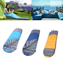 $enCountryForm.capitalKeyWord Canada - Camping Hiking summer outdoor Adult Sleeping Bag Cotton Flannel Portable Waterproof Comfortable Envelope Type 3 colors With Carrying Case