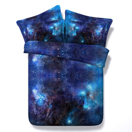 romantic king size bedding sets UK - Hot Sale 3 Styles Blue Romantic Galaxy 3D Printed Bedding Sets Twin Full Queen King Size Bedspreads Duvet Cover Pillow Shams Comforter 3 4pc
