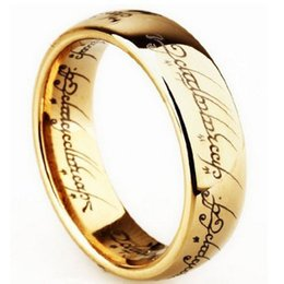 China Stainless Steel LORD OF THE RINGS HOT selling Wholesale Fashion Jewelry The Hobbit And movie jewelry film rings 080070 suppliers