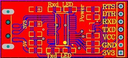 Modules Design Canada - FT232RL Module USB to Serial TTL PCB file ft232 USB to TTL schematic and pcb design file usb-ttl ft232 DIY Kit Free Shipping