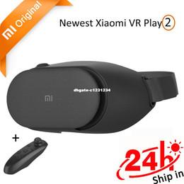 В наличии оригинальные Xiaomi Mi VR Play 2 погружения виртуальной реальности 3D очки Xiaomi для 4.7-5.5 смартфон 1080P с контроллером