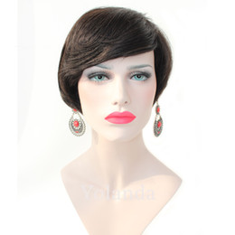 hair cuts for black women NZ - short bob cut wigs glueless virgin brazilian short full lace human hair wigs short bob wigs for black women