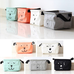 $enCountryForm.capitalKeyWord Canada - New Cotton Linen Desk Square Storage Box Jewelry Cosmetic Holder Stationery Organizer Case Bag