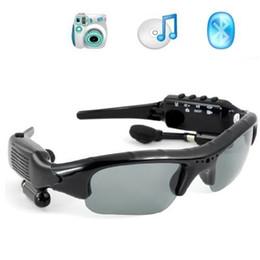 Rock Sunglasses Canada - Hot Sale 8GB 4 in 1 Smart Sunglasses Sports DVR Mini DV Audio Video Recorder Portable Camcorders Video Camara MP3 Player Earphones