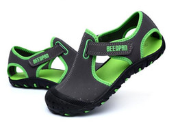 Chinese  wholesale Kids Sandals For Boys Leather Beach Sandals manufacturers