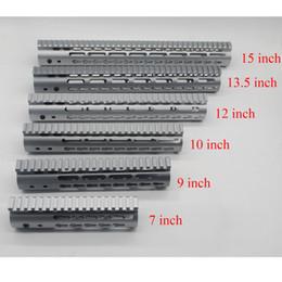 Handguard rail mount online shopping - Aluminum inch Grey Anodized Keymod Handguard Free Float Rail Mount System