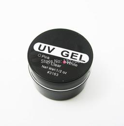 Großhandel Großhandels-1Pcs Nagel-Kunst-UVgel-Erbauer-Spitze-Kleber-Weiß-Erweiterungs-Manikürefachmann UG-heiße Marke