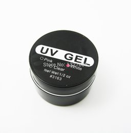 Wholesale- 1Pcs Nail Art UV Gel Builder Tips Glue White Extension Manicure professionale UG Hot Brand in Offerta
