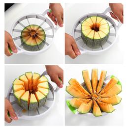 Cutter Fruit Watermelon Australia - 2017 Popular 2 Size Watermelon Slicer with PVC Handle Fruit Cutters Knife Splitter Fruit Slicer Free Shipping SG006