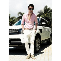 0a3b60685101 Wholesale- Plus Size Shirts Cotton Linen Men Shirt Long Sleeve Summer Style  Hawaiian Shirts Sexy Slim Fit Men Clothes 2016 New Arrival C01