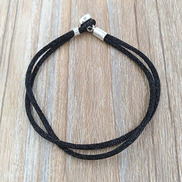 41d2bed25 Authentic 925 Silver Fabric Cord Bracelet, Black Fits European Pandora  Style Jewelry Charms Beads 590749CBK-S