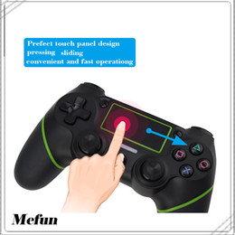 Wireless Controller Battery Canada - 2017 New fashioned gamepad for ps4 for kid with double vibration and touch screen and built in recharge battery