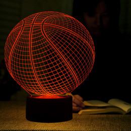 Marvelous Wholesale  3D LED Illusion Lamp Basketball Shape LED Art Sculpture Night  Lights 7 Colors USB Desk Lamp As Home Decoration U0026 Gifts Basketball Lamps  On Sale