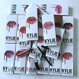 Colecciones Hacen Baratos-2017 Newest KYLIE JENNER LIP KIT 55 Colores LipGloss LipLiner Birthday Collection Maquillaje Lip Gloss Maquillaje Lipstick Mate Líquido