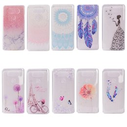 Phone G6 Canada - Transparent TPU Cover For LG G6 Case Colour decoration Tower bike Butterfly Girl Design Phone Case