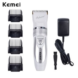$enCountryForm.capitalKeyWord Canada - 110V-220V Include Battery Titanium Blade Kemei-6688 Professional Hair Trimmer Electric Hair Clipper Cutting Machine Shearer