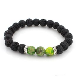clay bracelets 2019 - Fashion Jewelry Crafts New Arrival Lava Rock Beads Charms Bracelets Colorized Beads Men's Women's Natural Ston