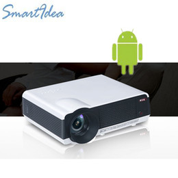 $enCountryForm.capitalKeyWord Australia - Wholesale-5000lumens Android 4.4 Full HD LED Wifi Daytime Projector, LCD Digital TV Video 3D Smart Proyector Beam Free shipping