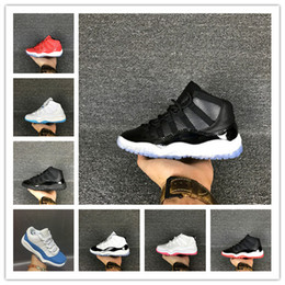 Baskets En Gros Pour Enfants Pas Cher-2017 Chaussures pour enfants Chaussures de basket-ball Vente en gros New Air Retro 11 espace confiture 72-10 CNY 11s Sneakers enfants Sports Running girl trainers 28-35