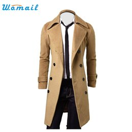 China Wholesale- Womail Good Deal 2017 Fashion Winter Men Slim Stylish Trench Coat Double Breasted Long Jacket Parka 1pc*23 _U00442 supplier deal man jackets suppliers
