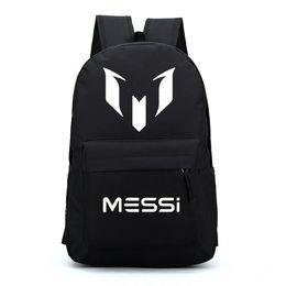 b1b12397c Messi mochilas mochilas estrella de fútbol para niños mochila para niños  adolescentes niñas bolsas de escuela