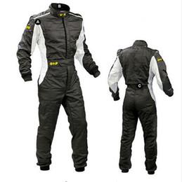 Ingrosso 2017 Nuovo Arrivo OMP Karting Suit Car Moto Racing Club Esercizio Abbigliamento Tuta Stig Suit Due Strati Impermeabile