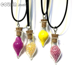 $enCountryForm.capitalKeyWord Canada - DZ0201 New Arrivals 30pcs lot 30styles drift bottle Pendant leather necklace for Woman Dress Fashion Design jewelry