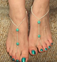 Anklet Toe Chain Australia - Boho Bead Anklet Wedding Foot Jewelry Chain Gold Color Toe Anklet Barefoot Sandals Beach Foot Bracelet For Women