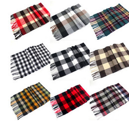 Scarfs Cotton Australia - Kids Scarves children scarf boys girls plaid shawl fashion kids tassel scarves autumn winter new girl cotton warm scarves T4365