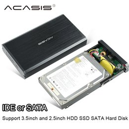 SSd ide hard diSk online shopping - ACASIS USB SATA IDE Interface inch HDD SSD Enclosure Mobile hard disk Box aluminum magnesium alloy support up to TB