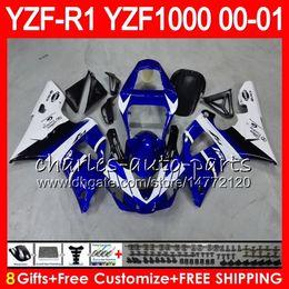 $enCountryForm.capitalKeyWord Canada - Bodywork For YAMAHA YZF1000 YZFR1 00 01 98 99 YZF-R1000 Body 74HM12 Blue white YZF 1000 R 1 YZF-R1 YZF R1 2000 2001 1998 1999 Fairing Kit
