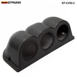 """EPMAN - VOITURE UNIVERSILE NOIR BLACK 2 """"52MM 3 TRIPLE DASH DE DASH PORTES PODS DE MONTAGE POD POUR BMW MINI COOPER S JCW W11 R52 EP-CV52-3 en Solde"""