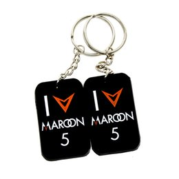 $enCountryForm.capitalKeyWord Canada - Hot Sell 1PC Maroon 5 Silicone Dog Tag Keychain Great To Use In Benifits Gift For Music Fans